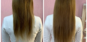 Наращивание волос отмастера понаращиванию волос Виктории фото