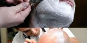 "Скидка 40% на полное бритье головы. Полное бритье бороды в барбершопе ""Алибаба""! фото"