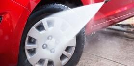 Комплексная мойка и отбеливание дисков а автомойке Автопрачка фото