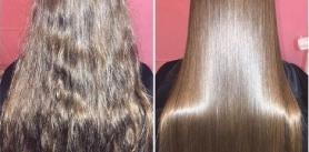 Скидка 50% на кератиновое восстановление волос в парикмахерской «Звезда Вега»! фото
