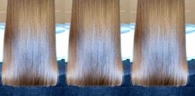 Кератин, ботокс, нанопластика, прикорневой объём, биовыпрямление волос встудии идеальных волос Estetik Hair фото