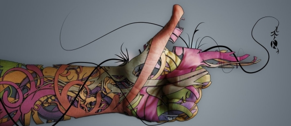 Салон татуировки Черная рука фото